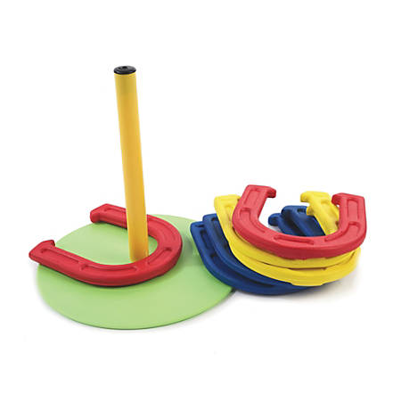 "360 Athletics Indoor Foam Horseshoe Set, 10""H x 10""W x 2 1/2""D, Assorted Colors"