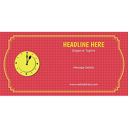 Custom Horizontal Banner, Lunch Clock