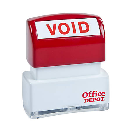 "Office Depot® Brand Pre-Inked Message Stamp, ""Void"", Red"