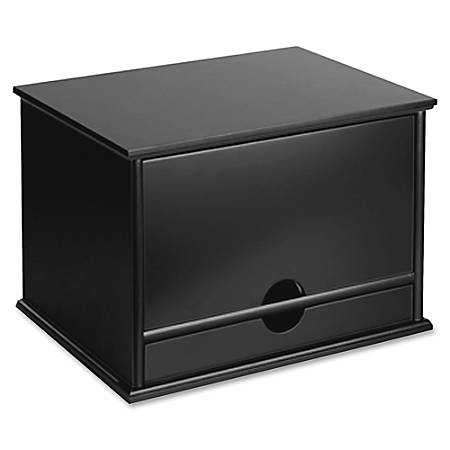 "Victor® Desktop Organizer, 9 3/4"" x 14"" x 10 3/4"", Midnight Black"
