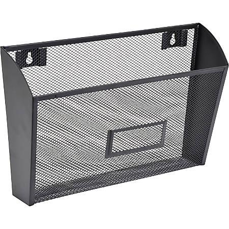 Lorell® Mesh Single Wall Pocket, Letter Size, Black
