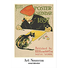 Retrospect Monthly Wall Calendar Art Nouveau