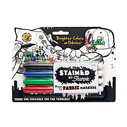 Sharpie STAINED Permanent Fabric Markers Brush