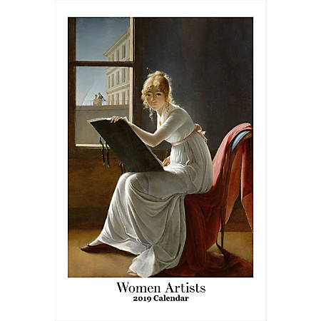 "Retrospect Monthly Wall Calendar, Women Artists, 19-1/4"" x 12-1/2"", Multicolor, January to December 2019"