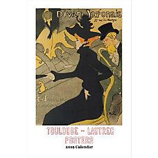 Retrospect Monthly Wall Calendar Toulouse Lautrec