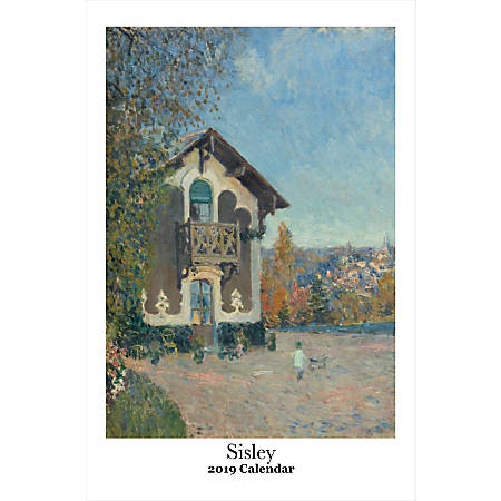"Retrospect Monthly Wall Calendar, Alfred Sisley, 19-1/4"" x 12-1/2"", Multicolor, January to December 2019"