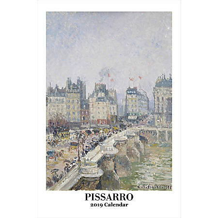 "Retrospect Monthly Wall Calendar, Camille Pissarro, 19-1/4"" x 12-1/2"", Multicolor, January to December 2019"