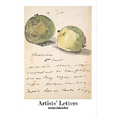 Retrospect Monthly Wall Calendar Artists Letters