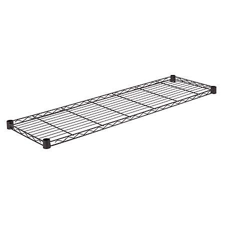 "Honey-Can-Do Powder-Coat Steel Shelf, 250-Lb Capacity, 1""H x 14""W x 48""D, Black"