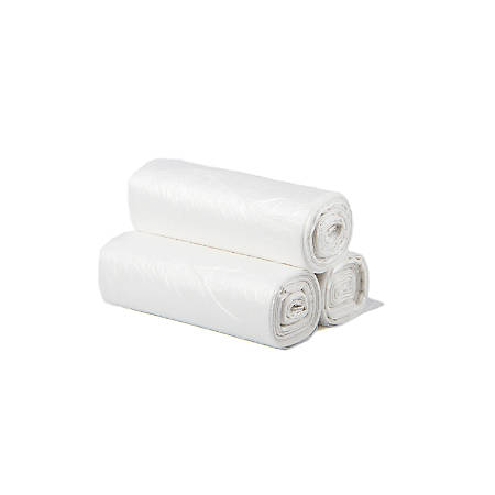 """Inteplast HDPE Can Liners, 13 Microns, 30"""" x 37"""", Natural, Pack Of 500 Liners"""