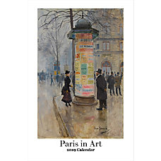 Retrospect Monthly Wall Calendar Paris In