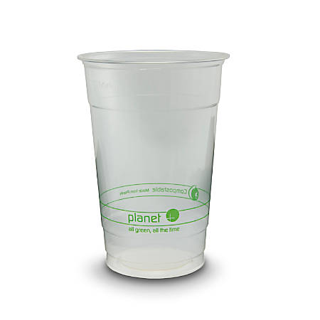 StalkMarket® Planet+ Compostable Cold Cups, 20 Oz, Clear, Pack Of 1,000 Cups
