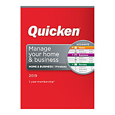Quicken Home Business 2019 Personal Finance