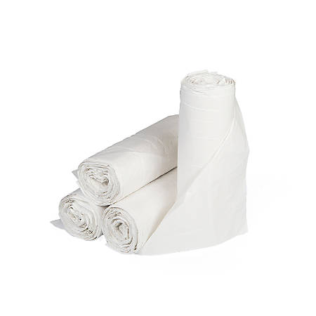 """Inteplast LLDPE Can Liners, 0.8 mil, 33"""" x 39"""", White, Pack Of 150 Liners"""
