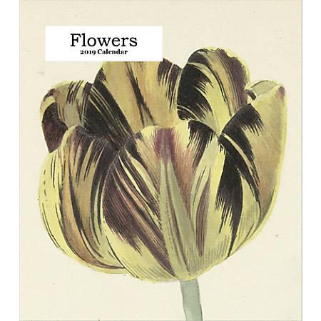 "Retrospect Monthly Desk Calendar, Flowers, 6-1/4"" x 5-1/4"", Multicolor, January to December 2019"