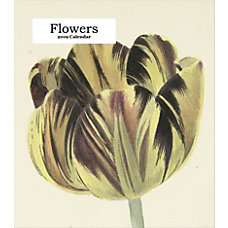Retrospect Monthly Desk Calendar Flowers 6