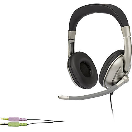 Cyber Acoustics Stereo Headset For K8 - 12 - Stereo - Mini-phone - Wired - 20 Hz - 20 kHz - Over-the-head - Binaural - Circumaural - 8 ft Cable