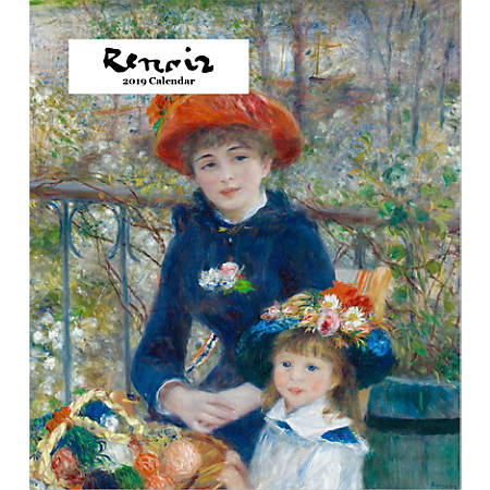 "Retrospect Monthly Desk Calendar, Renoir, 6-1/4"" x 5-1/4"", Multicolor, January to December 2019"