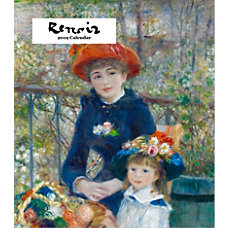 Retrospect Monthly Desk Calendar Renoir 6