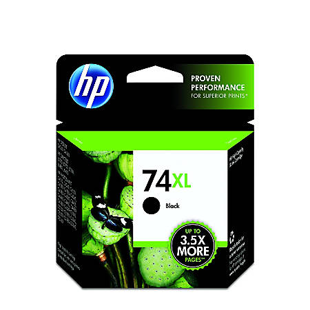 HP 74XL, Black Original Ink Cartridge (CB336WN)