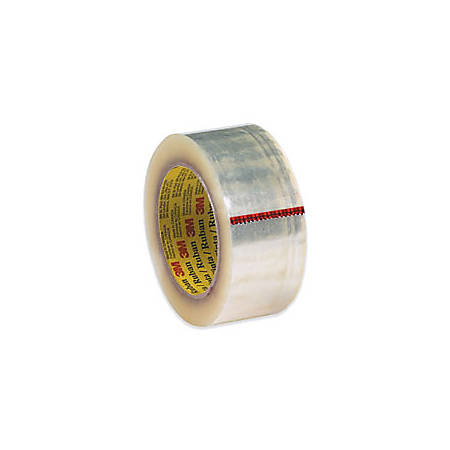 """3M® 371 Carton Sealing Tape, 2"""" x 55 Yd., Clear, Case Of 36"""