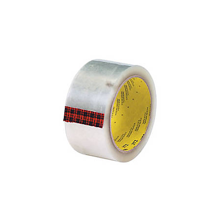 """3M® 372 Carton Sealing Tape, 2"""" x 55 Yd., Clear, Case Of 36"""