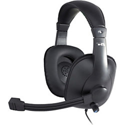 Cyber Acoustics Pro Grade Stereo Headset and Boom Mic - Stereo - Mini-phone - Wired - 20 Hz - 20 kHz - Over-the-head - Binaural - Circumaural - 9 ft Cable - Noise Canceling