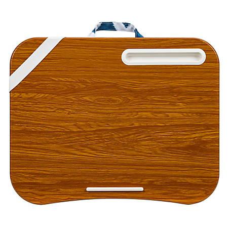 "LapGear Designer Lap Desk, 17-3/4"" x 13-3/4"", Navy Ikat"