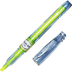 SKILCRAFT 100percent Recycled Barrel Highlighters Chisel