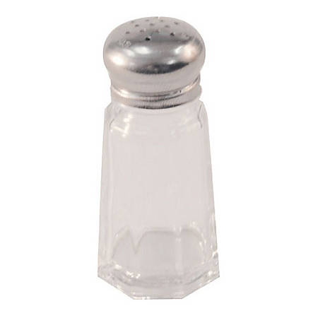 Winco Paneled Glass Salt And Pepper Shaker, 1 Oz, Clear