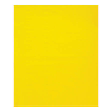 "Office Depot® Brand Flat 2-Mil Poly Bags, 15"" x 18"", Yellow, Case Of 1,000"