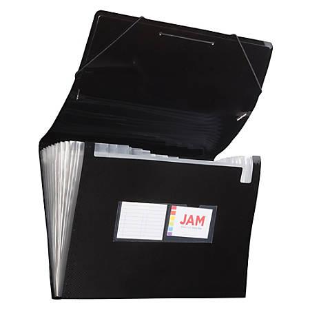 """JAM Paper® Legal Size Expanding File, 8"""" Expansion, 8-1/2"""" x 14"""", Black"""