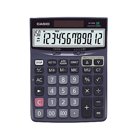 Casio Check Correct Desk Calculator 1 37 X 5 51 7 Black Dj120d Item 842663