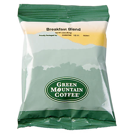 Green Mountain Coffee® Breakfast Blend Coffee, Portion Packs, Carton Of 100