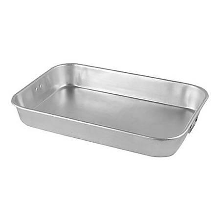"""Johnson Rose Aluminum Roast Pan, 12"""" x 18"""", Silver"""