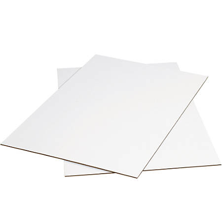 """Office Depot® Brand Corrugated Sheets, 48"""" x 96"""", White, Pack Of 5"""