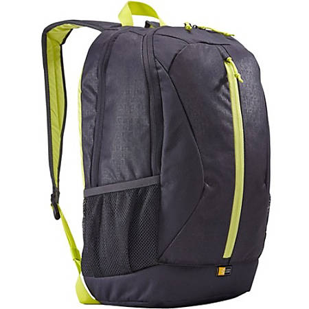 """Case Logic Ibira IBIR-115 Carrying Case (Backpack) 16"""" Notebook - Gray, Anthracite - Polyester - Shoulder Strap - 17.3"""" Height x 12.6"""" Width x 10.2"""" Depth"""