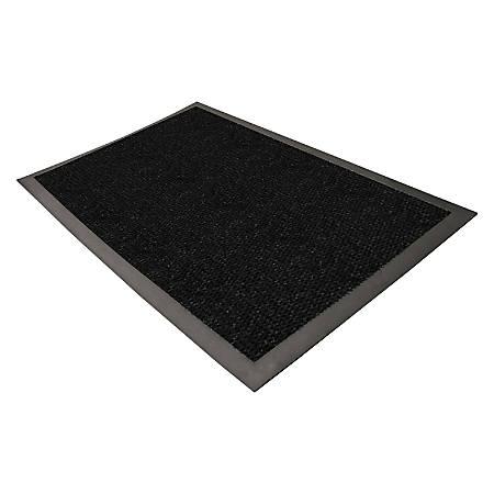 Genuine Joe Ultraguard Indoor Wiper/Scraper Floor Mat, 4' x 6', Charcoal Black