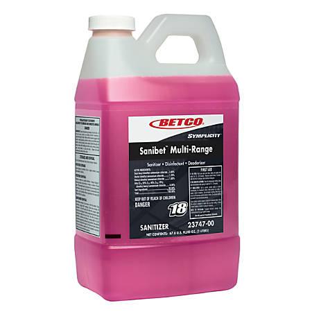 Symplicity Sanibet Multi-Range Sanitzer, 2 Liter, Case Of 4