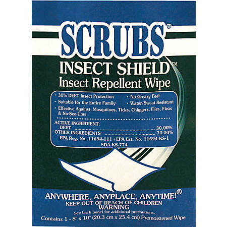 INSECT SHEILD INSECT REPELLANT TOWEL 1/PACKAGE