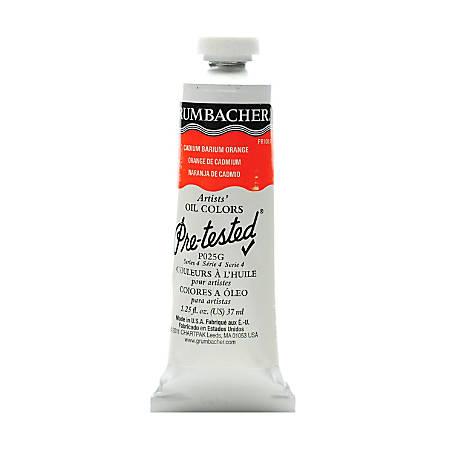 Grumbacher P025 Pre-Tested Artists' Oil Colors, 1.25 Oz, Cadmium Barium Orange