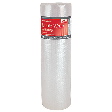 """Office Depot® Brand Bubble Roll, Extra-Wide, 3/16"""" Thick, Clear, 24"""" x 25'"""