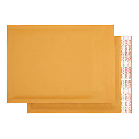 """Office Depot® Brand Kraft Bubble Mailers, 7 1/4"""" x 7"""", Pack Of 25"""