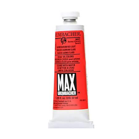 Grumbacher Max Water Miscible Oil Colors, 1.25 Oz, Cadmium Barium Red Light