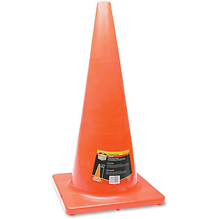 "Honeywell Orange Traffic Cone - 1 Each - 28"" Height - Cone Shape - Long Lasting, Fade Resistant, UV Resistant - Orange"