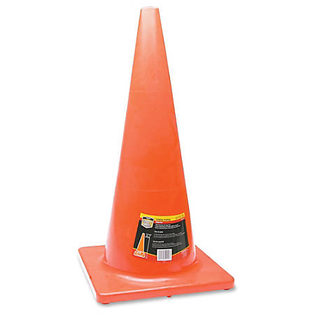 "Honeywell Orange Traffic Cone - 1 Each - 28"" Height - Cone Shape - Long Lasting, Fade Resistant, UV Resistant - Orange"