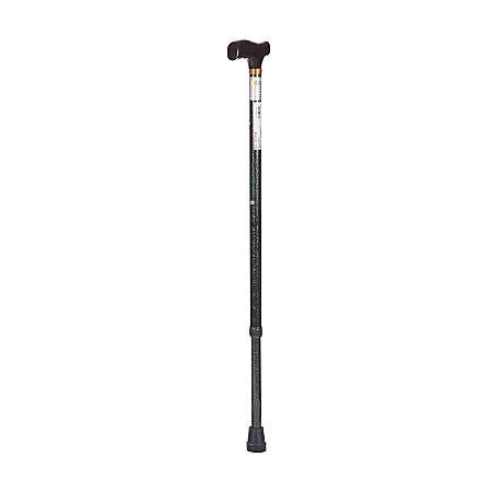 "DMI® Adjustable Derby Top Aluminum Folding Walking Cane, 40"", Green Ice"