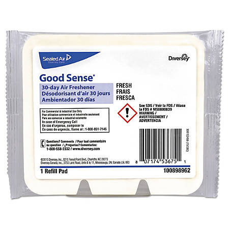 Diversey™ Good Sense® 30-Day Air Fresheners, Fresh Scent, 0.67 Oz, Pack of 12 Air Fresheners