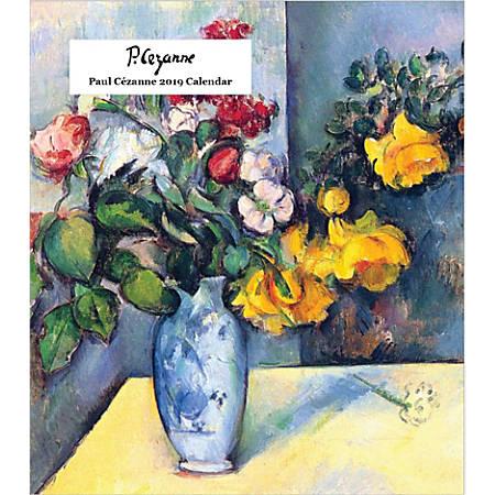 """Retrospect Monthly Desk Calendar, Paul Cézanne, 6-1/4"""" x 5-1/4"""", Multicolor, January to December 2019"""