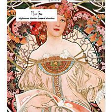 Retrospect Monthly Desk Calendar Alphonse Mucha